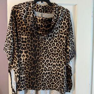 Ladies leopard print poncho...super soft!